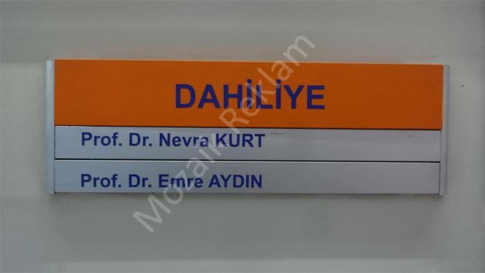 Kapı İsimlikleri Düz Panel